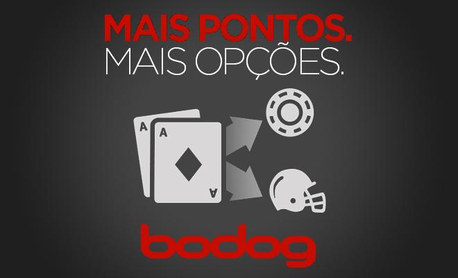 Pontos de Poker do Bodog