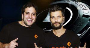 João Simão e Bruno Gagliasso, embaixadores partypoker