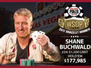 Shane Buchwald - Campeão Evento #24 - WSOP 2017