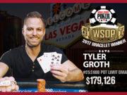 Tyler Groth - Campeão Evento #25 - WSOP 2017