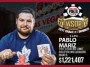 Pablo Mariz - Campeão Evento #20 - WSOP 2017