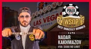 Nadar Kakhmazov - Campeão Evento #36 - WSOP 2017