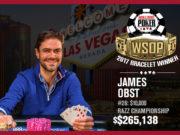 James Obst - Campeão Evento #26 - WSOP 2017
