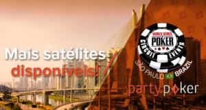 Satélites do partypoker para a WSOP Brasil