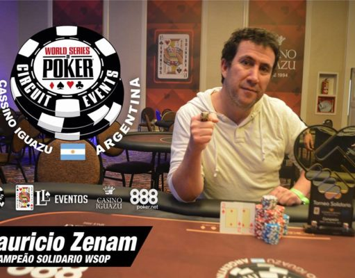 Mauricio Zenam - Campeão Torneio Solidário - WSOP Argentina