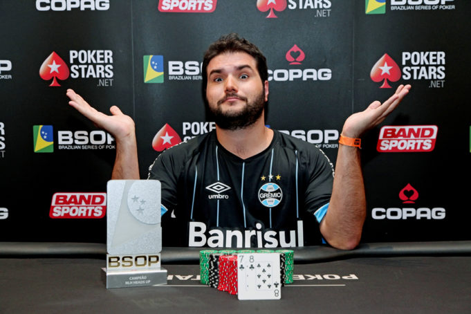 Felipe Difini Campeao Heads Up - BSOP100