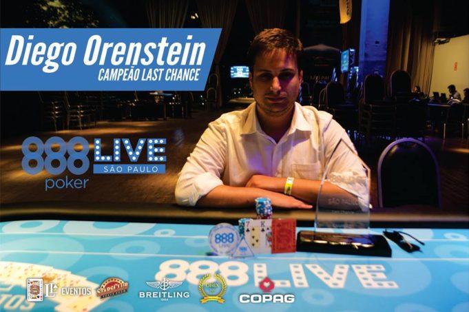 Diego Orenstein - Campeão Last Chance - 888Live São Paulo