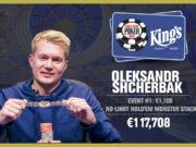 Oleksandr Shcherbak (Ev 1 WSOP Europa Monster Stack)