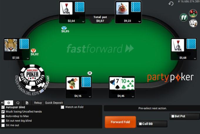 Fastforward do partypoker levará jogadores para a WSOP Uruguai