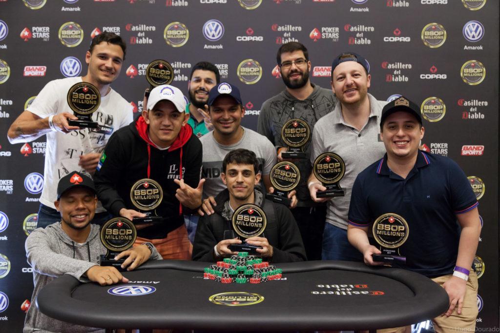 Finalistas Torneio por Equipes - BSOP Millions