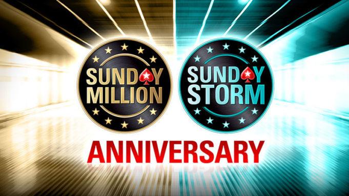 Sunday Million e Sunday Storm especial de aniversário