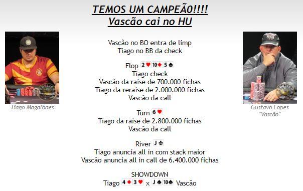 Mão Final - Main Event BSOP São Paulo