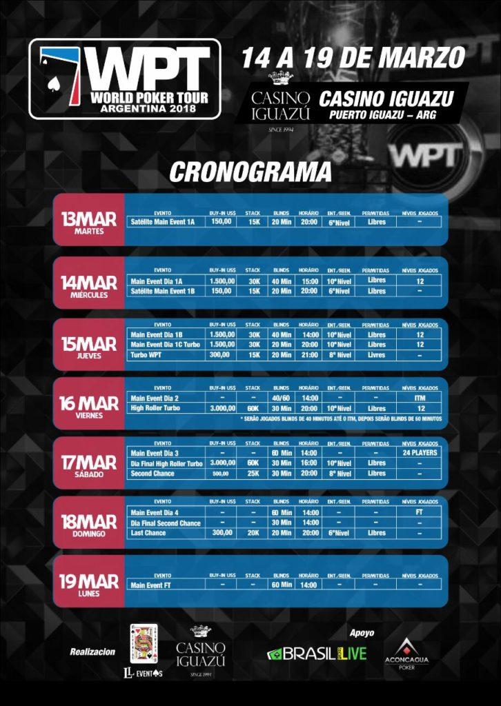 Cronograma WPT Argentina