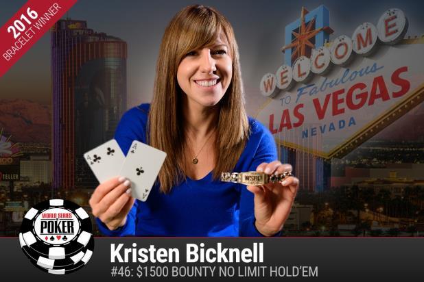 Kristen Bicknell na WSOP 2016