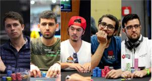 Bruno Volkman, Hélio Neves, Nicolau Villa-Lobos, Rafael Moraes e André Akkari