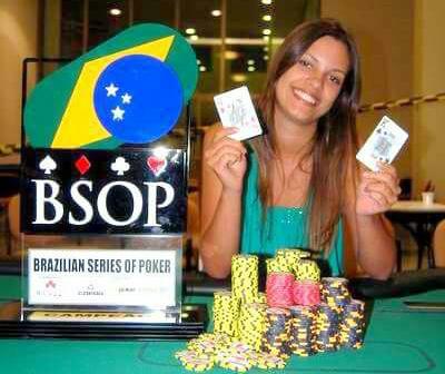 Gabriela campeã do Main Event do BSOP Belo Horizonte em 2008