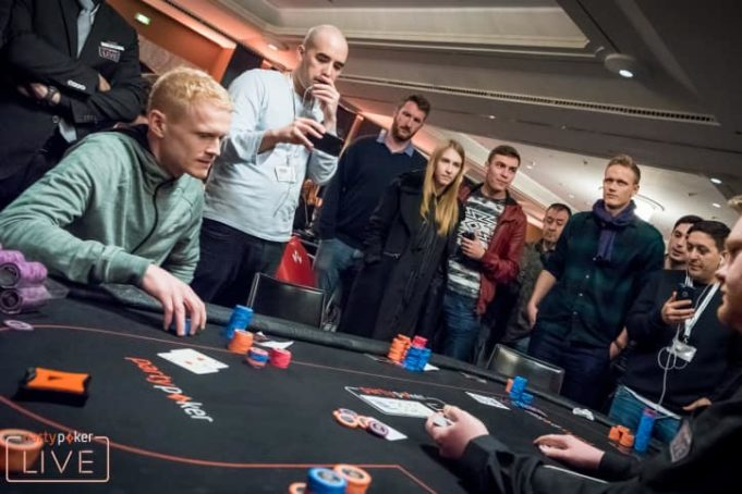 Estouro da bolha do Main Event do partypoker Millions Grand Final Barcelona