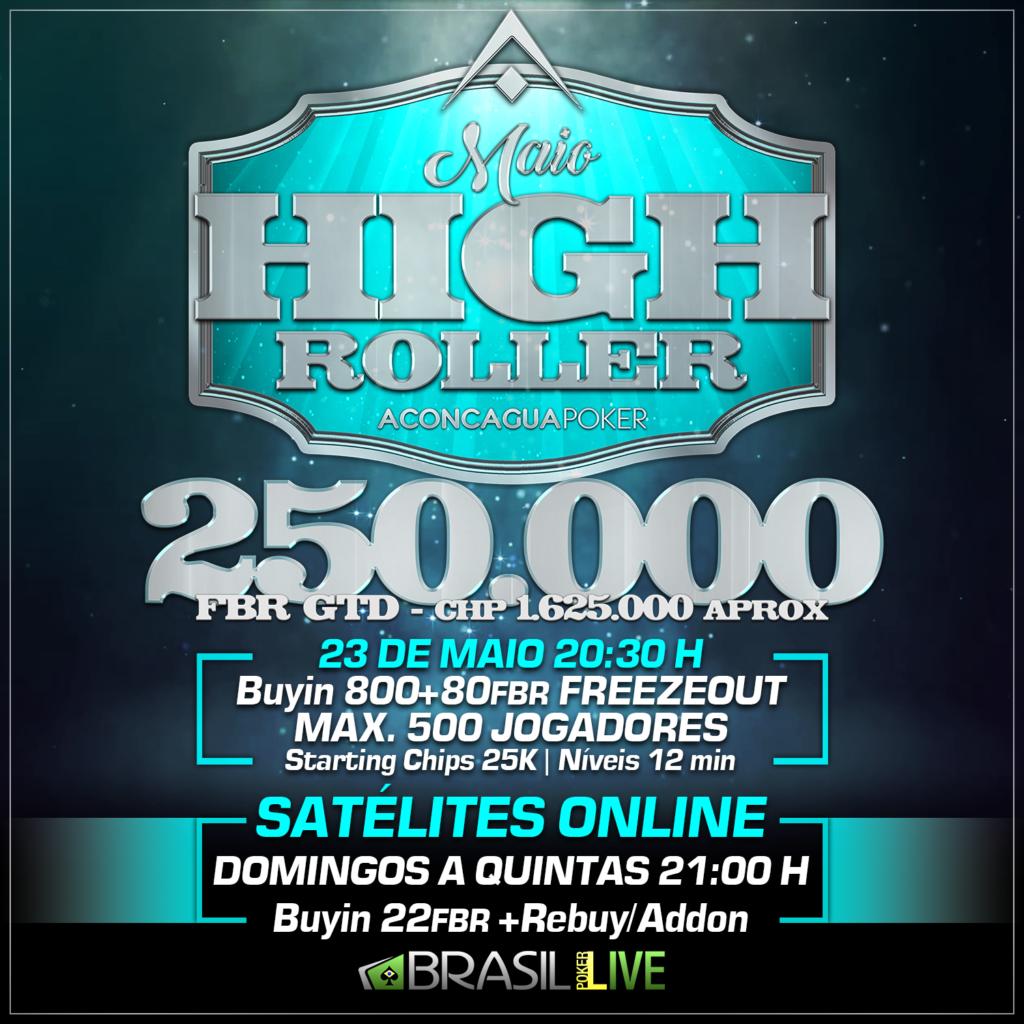 High Roller Freezeout - Brasil Poker Live