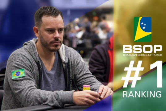 Paulo Gini - líder do ranking BSOP