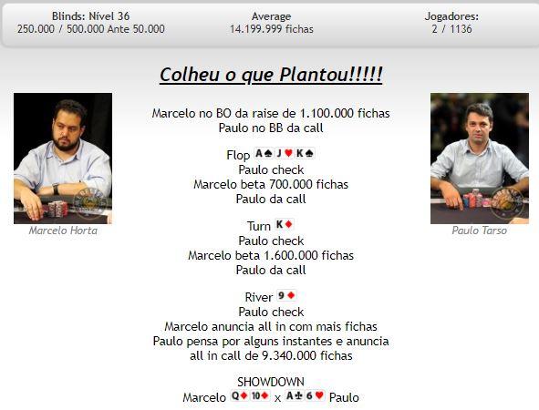 Mão final Main Event BSOP Brasília