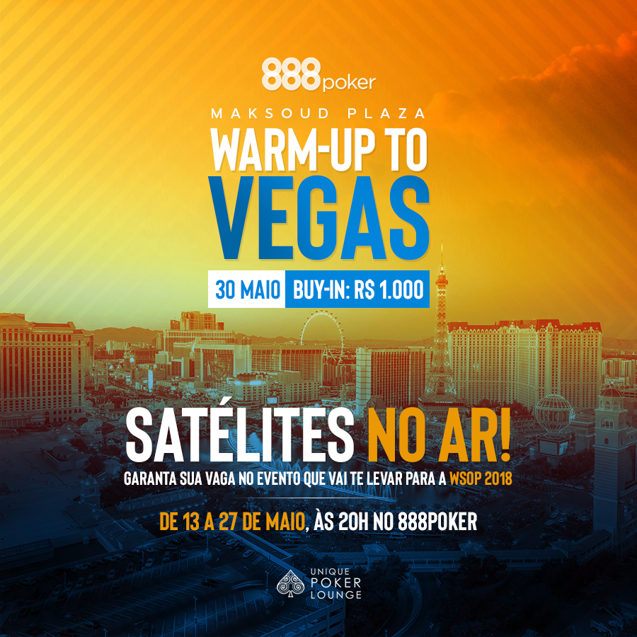 Satélites para o Warm Up to Vegas no 888poker
