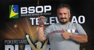Rogério Pereira campeão do torneio All in ou Fold do BSOP Natal