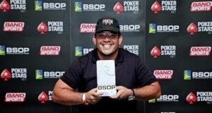 Gustavo Vascão campeão do Last Chance DeepStack do BSOP Natal