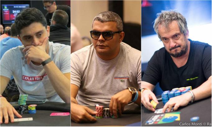 Thiago Saboya, Wilder Brito e Rogério Pereira no BSOP Natal