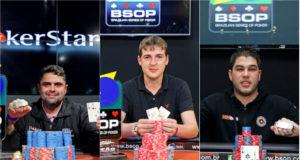 André Eskinazi, Alexandro Veber e Victor Teixeira - BSOP Natal