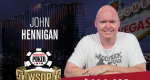 John Hennigan campeão do Evento #27 da WSOP
