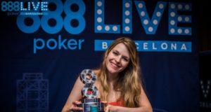 Maria Lampropulos campeã do High Roller do 888poker Live Barcelona
