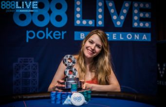 Maria Lampropulos campeã do High Roller do 888poker Live Barcelona