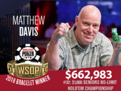Matthew Davis campeão do Evento Seniors da WSOP