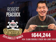 Robert Peacock campeão do Evento #34 da WSOP