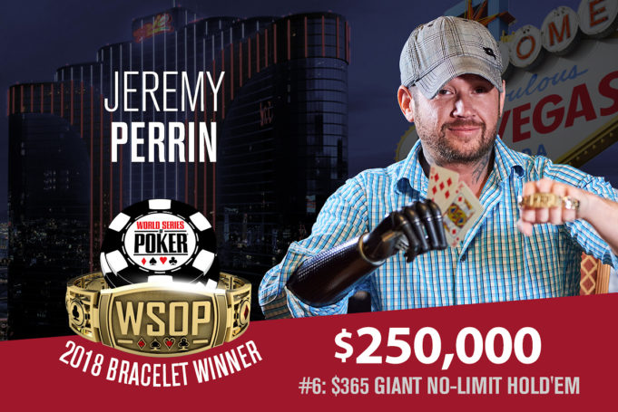 Jeremy Perrin campeão do Evento Giant da WSOP