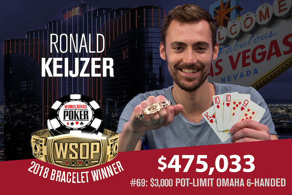 Ronald Keijzer campeão do Evento #69 da WSOP