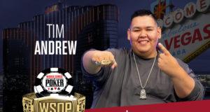 Tim Andrew campeão do Evento Giant Pot-Limit Omaha da WSOP