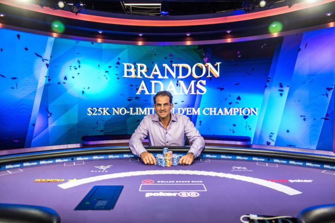 Brandon Adams campeão do Evento #2 do PokerMasters (Foto: PokerCentral)