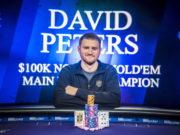 David Peters campeão do Evento #7 do PokerMasters