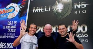 Rodrigo Cariola, Simon Truper e Andre Feldman - WSOP Brazil Rio