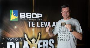 Paulo Milani campeão do All in ou Fold do BSOP Floripa