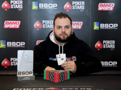 Saulo Sabioni campeão do Knockout Freezeout do BSOP Floripa