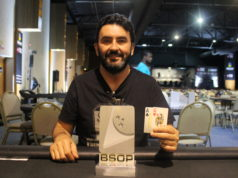 Marcos Vinício campeão do Turbo Knockout do BSOP Floripa