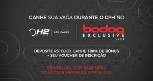 Promoção H2 Club Bodog