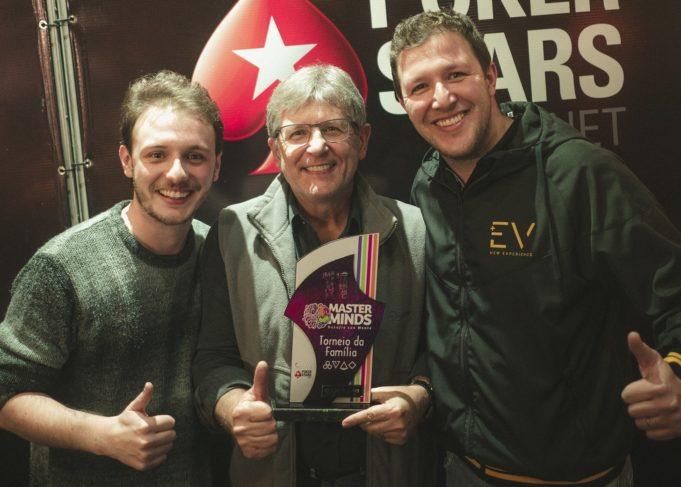 Fernando, Manoel e Gustavo Domingues - Campeões Torneio da Família MasterMinds 11