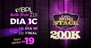 Dia 1C do Outubro Mini Stack - Brasil Poker Live
