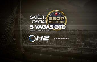 Satélite para o BSOP Millions do H2 Club Campinas