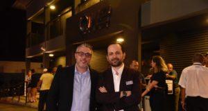 Rodrigo Kubitza e Robinson Quiroga na inauguração do H2 Club Campinas