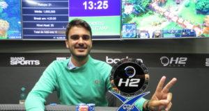 Fabiano Costa campeão do High Roller do H2 Club Campinas