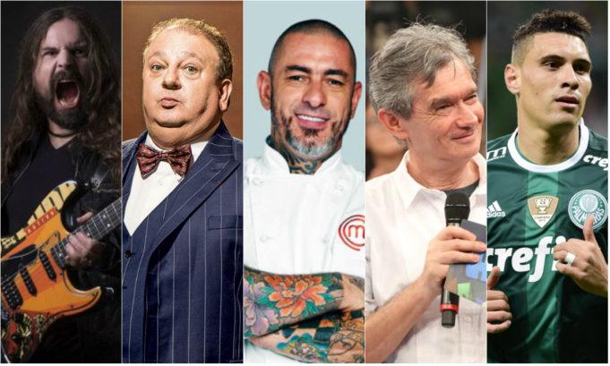 Andreas Kisser, Erick Jacquin, Henrique Fogaça, Serginho Groisman e Moisés Lima